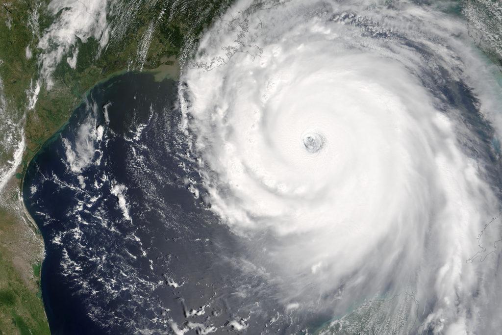 satellite image of hurrican