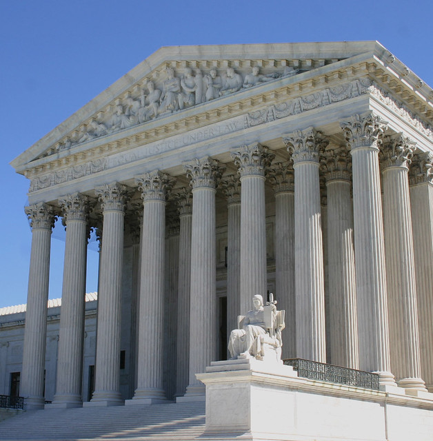 supreme court with blue sky
