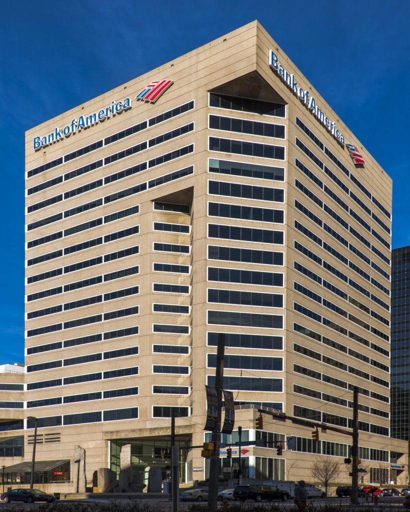 bank of america center office building in baltimore, md
