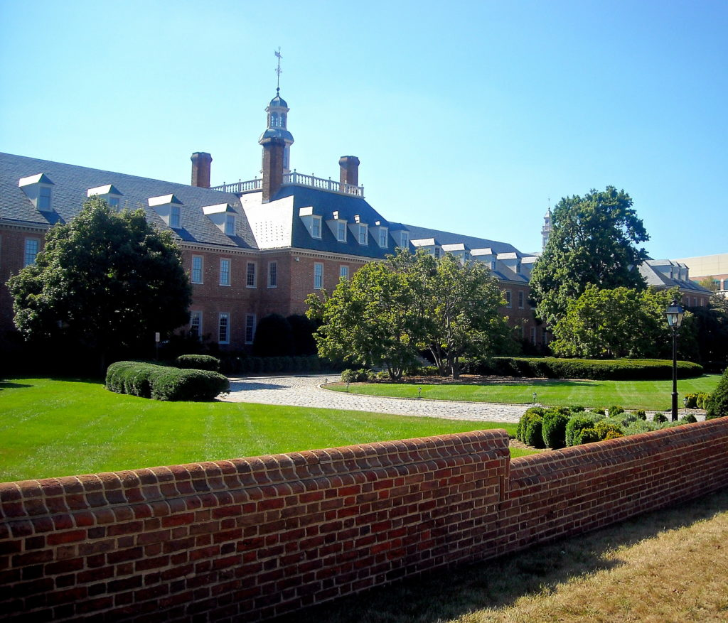fannie mae headquarters with lawn and short brick wall in front