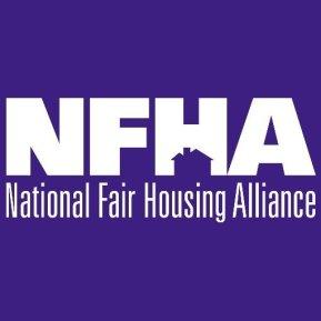 "nfha logo, ""national fair housing alliance"" on purple background"
