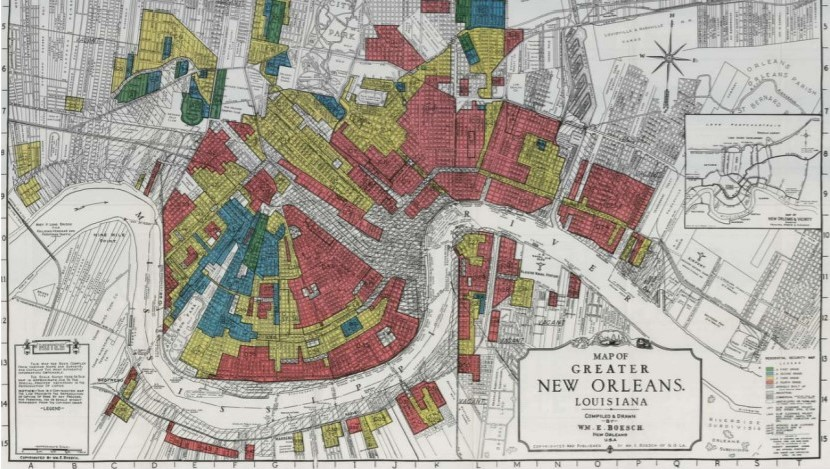 old map of the city of new orleans