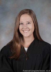 portrait of francie trimble in graduation gown